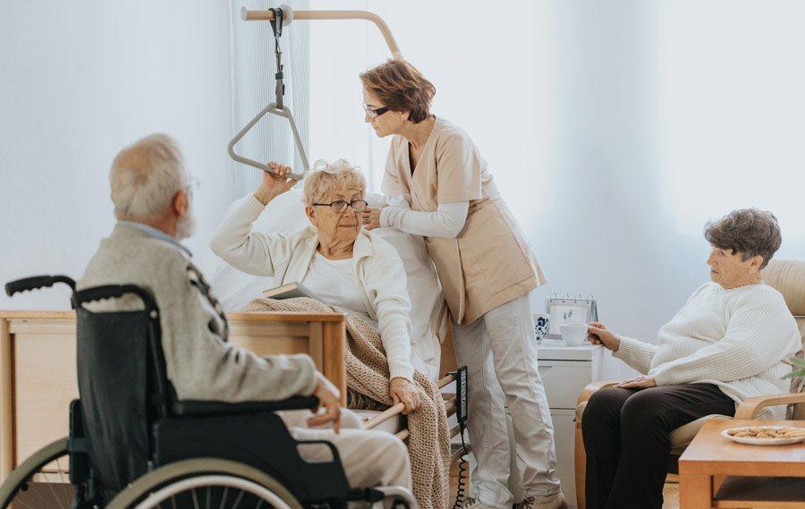 Plazas geriátricas en residencias de mayores
